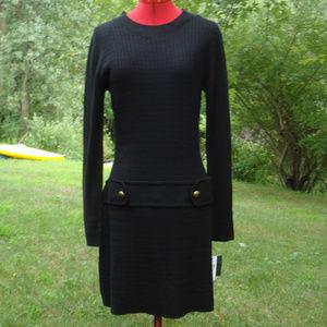 NWT Knit Sweater Dress Long Sleeve  Stretch M / L
